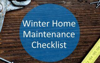 Home Maintenance Winter Checklist